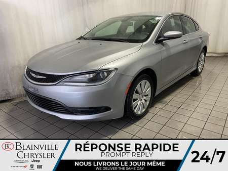 2016 Chrysler 200 LX * BLUETOOTH * COMPASS * A/C * CRUISE for Sale  - BC-P1601A  - Desmeules Chrysler