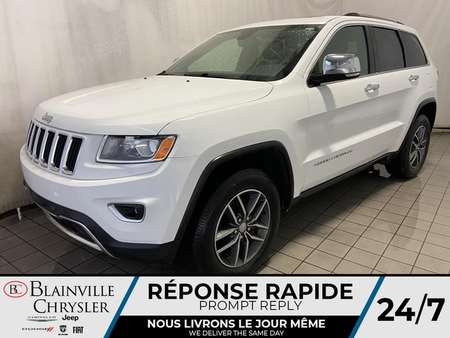 2016 Jeep Grand Cherokee LIMITED * CAMERA RECUL * BLUETOOTH * TOIT OUVRANT for Sale  - BC-20271A  - Desmeules Chrysler
