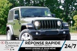 2021 Jeep Wrangler SPORT S V6 * TOIT SOUPLE * GROUPE ÉLECTRIQUE *  - BC-21692  - Blainville Chrysler