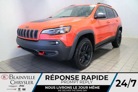 2021 Jeep Cherokee Trailhawk * Int. CUIR & TISSU SPORT * for Sale  - BC-21131  - Blainville Chrysler