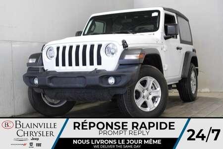 2019 Jeep Wrangler SPORT S * TOIT SOUPLE * CAMERA DE RECUL * BAS KM * for Sale  - BC-A2388  - Desmeules Chrysler