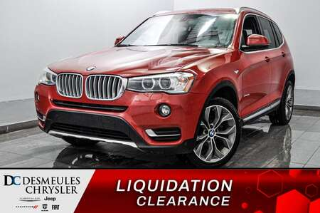 2016 BMW X3 xDrive28d* AWD * CAM RECUL * TOIT PANO * GPS for Sale  - DC-E2366  - Blainville Chrysler