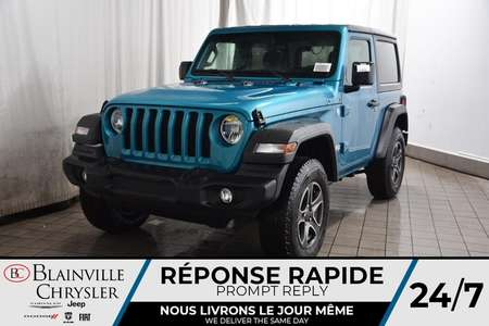 2020 Jeep Wrangler Sport S + Démarreur Dist + Cam Rec + Sièges Chauff for Sale  - BC-20246  - Desmeules Chrysler