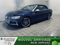 2019 Audi S5 Cabriolet SIEGES CHAUFFANT *  CONVERTIBLE * NAV * CAM RECUL  - BC-P2251  - Desmeules Chrysler