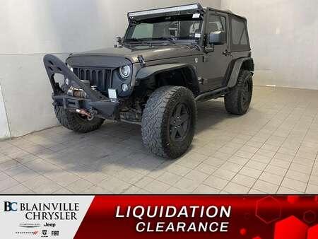 2016 Jeep Wrangler SPORT * MANUEL * LIFT KIT * BAR LED * WINCH * WOW! for Sale  - BC-S2277  - Desmeules Chrysler