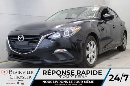 2016 Mazda Mazda3 i Sport * CAMERA DE RECUL * CRUISE * BAS KILO * for Sale  - BC-P2292  - Desmeules Chrysler