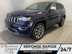 2018 Jeep Grand Cherokee Limited * GPS * TOIT OUVRANT * 4 SIEGES CHAUFFANTS  - BC-21464A  - Blainville Chrysler