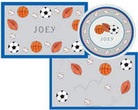 Sports Placemats with Plate/Bowl