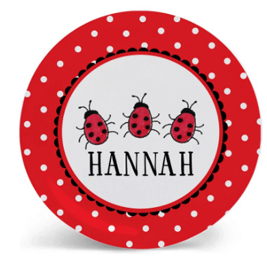 Butterfly and Ladybug Plates