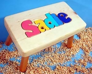 Name Puzzle Step-Stools