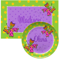 Animal, Bug & Butterfly Placemats with Plate/Bowl