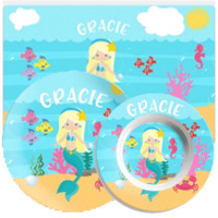 Mermaid & Sea Animal Placemats with Plate/Bowl