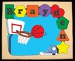 Basketball Personalized Puzzle (1-8 Letters)