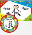 Design Your Own Personalized Placemat and Melamine Plate with Star Border