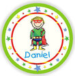 Superhero Personalized Melamine Plate