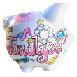 Girly Things Large Piggy Bank