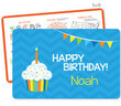 Blue Birthday Cupcake Personalized Activity Placemat