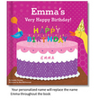 My Very Happy Birthday Personalized  Board Book for Girls