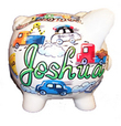 Cars & Trucks Personalized Piggy Bank