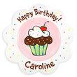 Birthday Sprinkles Scalloped Plate for Girls