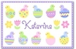 Easter Chicks and Eggs Personalized Placemat