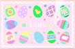 Easter Eggs Personalized Placemat for Girls