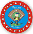 Baseball Player Personalized Melamine Plate