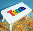 Puzzle Name Stool in White