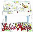 Bright Daisies & Ladybugs Flip Step-Stool