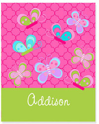 Butterfly Personalized Plush Blanket