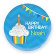 Birthday Cupcake Personalized Melamine Plate for Boys