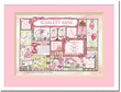 Patchwork Personalized Nursery Wall Art in Pink & Lime