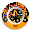 Monster Truck Personalized Bowl