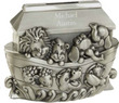 Silver Noah's Ark Personalized Bank