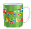 Train Personalized Mug with Green Background