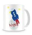 Rocket Ship Personalized Kids Mug