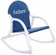 Personalized Child's Rocker with Denim Canvas Seat