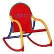 Personalized Child's Rocker with Red Canvas Seat