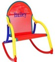 Personalized Child's Rocker with Red Mesh Seat