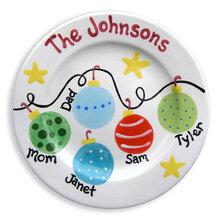 family christmas ornament plate - Christmas Plates
