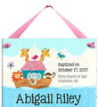 Baptism Noah's Ark Personalized Wall Tile for Girls  (Other religious occasions available)