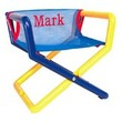 Personalized Jr. Director's Chair with Blue Mesh Seat