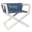 Personalized Jr. Director's Chair with Blue Denim Canvas Seat