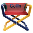 Personalized Jr. Director's Chair with Red Mesh Seat