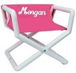 Personalized Jr. Director's Chair with Hot Pink Canvas Seat