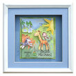 Baby's Jungle Personalized Shadow Box
