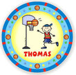 Basketball Player Personalized Melamine Plate