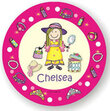 Dress-Up Personalized Melamine  Plate