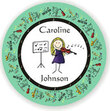 Musician Personalized Melamine Plate (you select head and instrument)