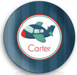 Blue Airplane Personalized Plate